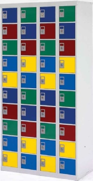 Green Label Lockers,  Manufactured from 60% recycled steel