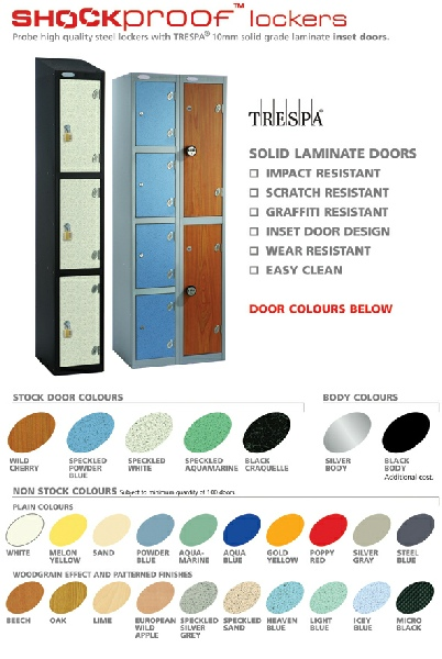 Shockproof Locker Door Options. Very very strong.