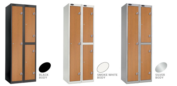 Wild Cherry Locker Doors with Black, Silver or Smoke White Carcase colour options.